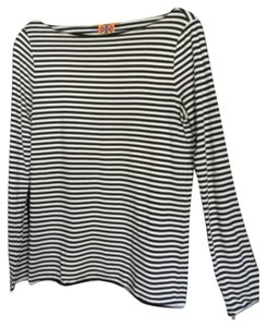 Tory Burch T Shirt Black/White Stripe