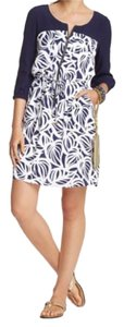 Lilly Pulitzer short dress Bright Navy Shell 100% Rayon on Tradesy