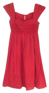 Anthropologie short dress Red Shell 100% Cotton on Tradesy