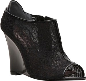 Nina Wedge Lace Black Boots