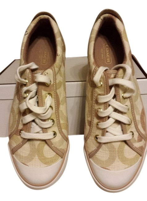 Item - Taupe/Cream/White Sneakers Size US 7.5 Regular (M, B)