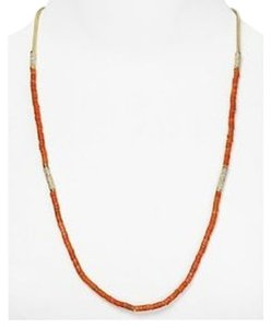 Michael Kors MICHAEL KORS MKJ1739 Summer Jet Set Coral Beaded Pave Necklace