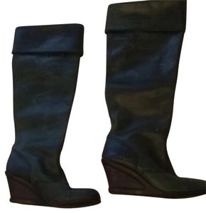 FLY London Dark Green Almost Black Boots