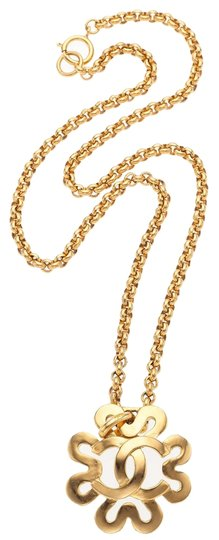 Chanel Chanel Gold CC Flower Necklace Image 1