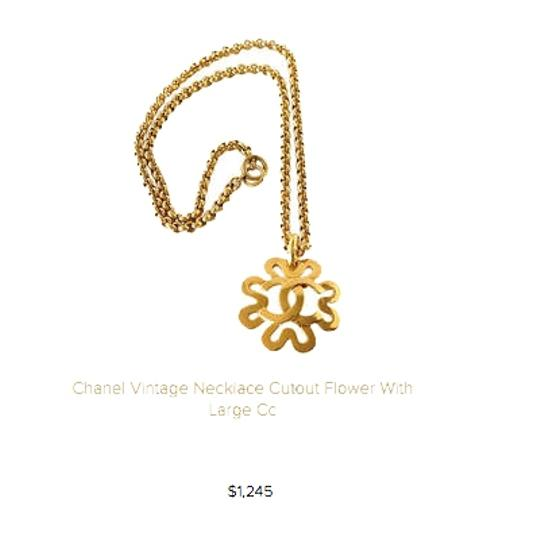 Chanel Chanel Gold CC Flower Necklace Image 7