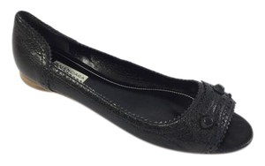 Balenciaga Open Toe Black Flats