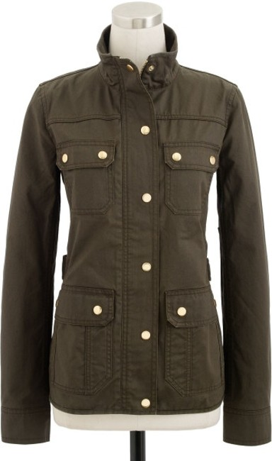 Item - Olive/Mossy Brown Downtown Field Jacket Size 4 (S)