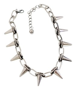 Brand NEW Acrylic and Alloy Spike Necklace