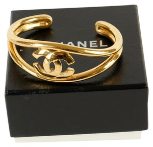 Chanel Chanel Gold CC Bangle Bracelet