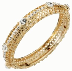 IMAN Global Chic Vintage Glamour Crystal and Metal Mesh Bangle