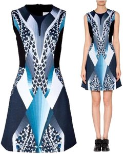 Peter Pilotto Party A-line Scuba Abstract Dress