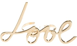 Lanvin LANVIN 'Love' double ring New With Tags