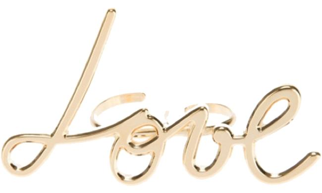 Item - Gold 'love' Double New with Tags Ring