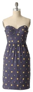 Anthropologie short dress Yellow gold purple Polka Dot Floreat Sun Dot on Tradesy