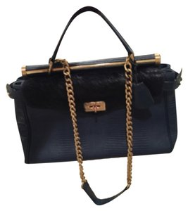BCBGMAXAZRIA Satchel in Blue And Black