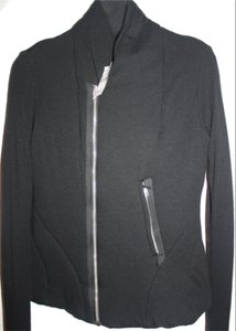 Rick Owens Asymmetrical Long Sleeves Black Jacket