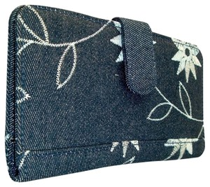 Avatar Imports Ladies Denim Checkbook Cover / Wallet Snap Close, Blues, Clutch New.