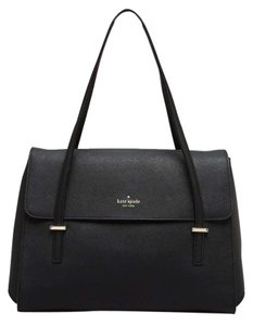 Kate Spade Leather Briefcase Business Satchel in Black