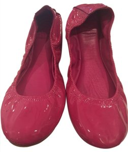 Tory Burch Reva Patent Pink Leather, dustbag and box included Flats