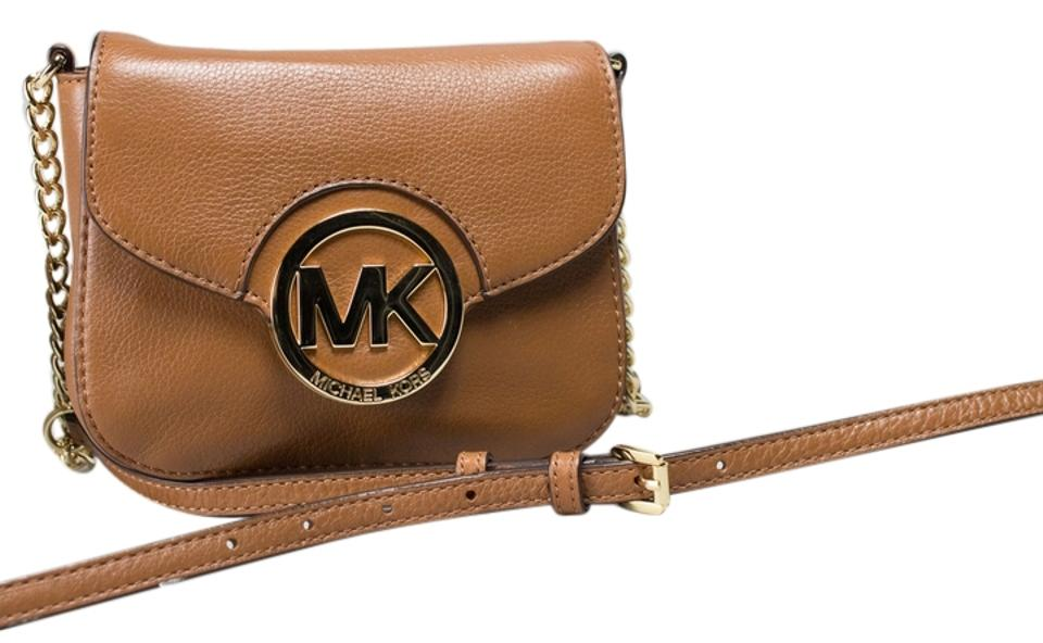 63dd8d70d686 Michael Kors Fulton Small Luggage Leather Cross Body Bag - Tradesy