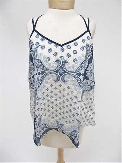 85ce1180075303 AnM Womens Anm Blue Paisley Print Sleeveless Strappy Tank Top delicate