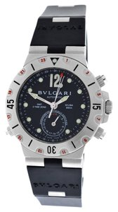 BVLGARI Bvlgari Diagono Pro Acqua Scuba SD38S GMT 3 Time Zone Automatic Watch