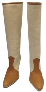 Jean-Michel Cazabat Western Cowboy Cowgirl Citycowgirl Linen and beige Boots