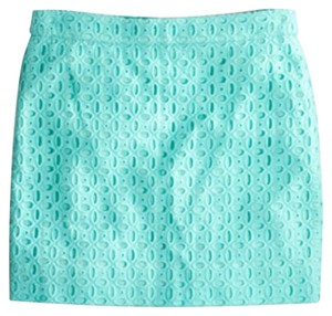 J.Crew Mini Skirt Vivid Aqua Mint