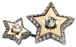 Lanvin LANVIN DOUBLE STAR TWO-FINGER RING New