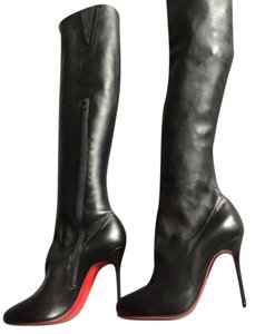 Christian Louboutin Sempre Monica Over Knee Black Boots