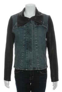 Helmut Lang Denim Leather Jacket
