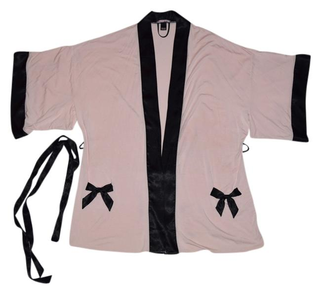 Item - Pink with Black Trim Sexy Little Things Robe Cover-up/Sarong Size 6 (S)