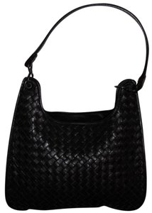 Bottega Veneta Leather Woven Oleander Intrecciato Shoulder Bag