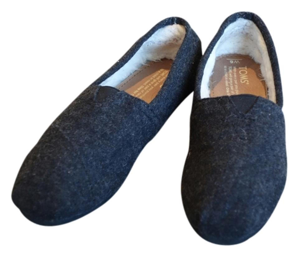 bde9b0d41f7 TOMS Charcoal Classic Wooly Fleece-lined Slip-on In Gray Flats Size ...