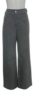 Chanel Denim Stripped Trouser/Wide Leg Jeans