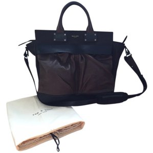 Rag & Bone Leather Fall Carry All Satchel in brown and black