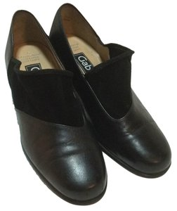 Gabor Genuine Leather Lining And Upper Comfortable Sturdy Heel Non-skid Soles black Pumps