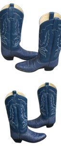 Dan Post Boots Cowboy Cowgirl Ostrich teal blue Boots