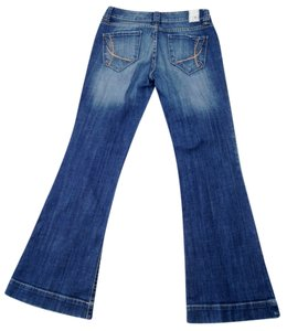 !iT Jeans Denim Mid-rise Regular Length Stretchy Medium Wash Flare Leg Jeans-Medium Wash