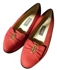 Bally Red suede Flats