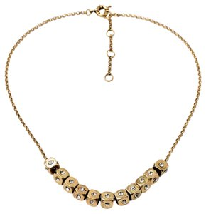 Private Collection Gold Crystal Cube Necklace