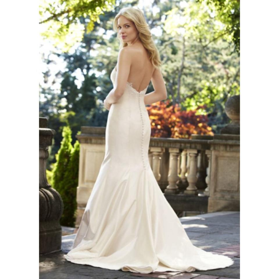 Lea Ann Belter Off White Dupioni Silk Ava Feminine Wedding Dress Size 00 S