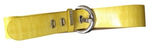 Guess Guess Yellow Wide Belt