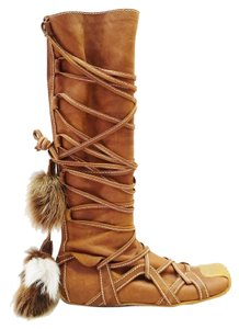 Dior Christian Brown tan Boots