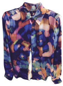Gianfranco Ferre 100% Silk Button Down Shirt mulitcolor