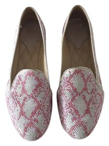 Brian Atwood White and Pink Flats