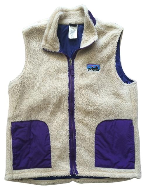 Item - Tan and Purple Girl Retro X Girl's Vest Size 2 (XS)