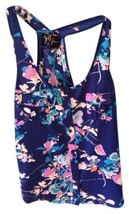 Yumi Kim Top Blue And Multi Floral Print