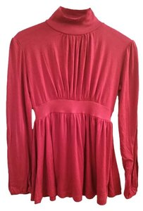 Belle du Jour French Turtleneck Sleeves Ruching Tunic