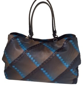 Bottega Veneta Hand-painted Tote in Black Multi